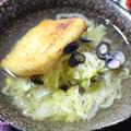 白菜と千切り生姜のお鍋 焼油揚げ入り☆(作レポだよん)