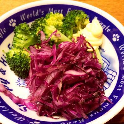 紫キャベツのレモンマリネ☆