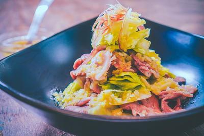 63℃ 豚しゃぶとキャベツの温サラダ