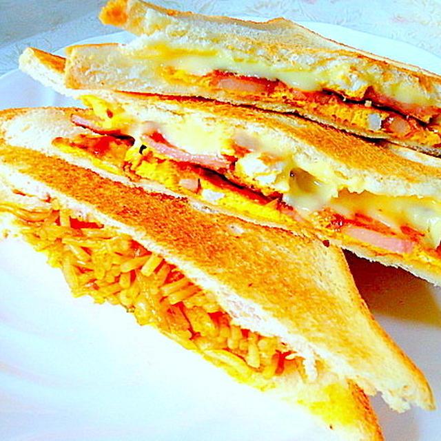 朝食やランチに最適・とるけるチーズが魅力の「ホットサンド」