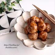 レンジで5分!お弁当におすすめ!すき焼き風の甘辛ミートボール