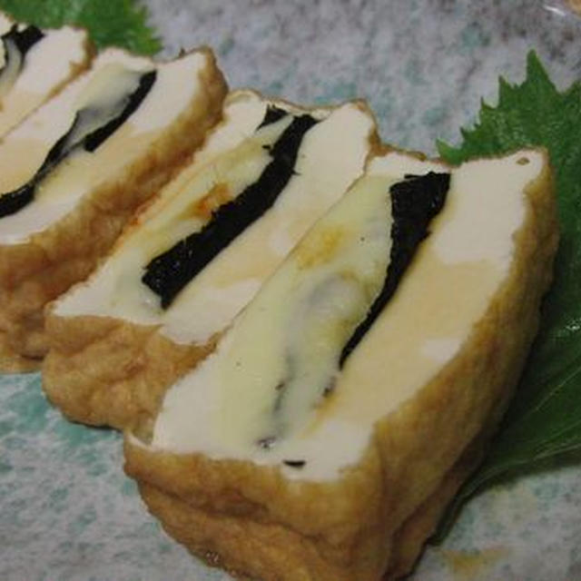 レンジで3分♪ 厚揚げの生姜チーズ蒸し