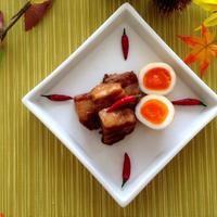 『甘辛ガーリック味☆豚の角煮』圧力鍋でとろっとろ♪♪
