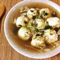 満ち足りる柔さ。ネギ海苔柔らか鶏団子中華スープ(糖質8.8g) by ねこやましゅんさん