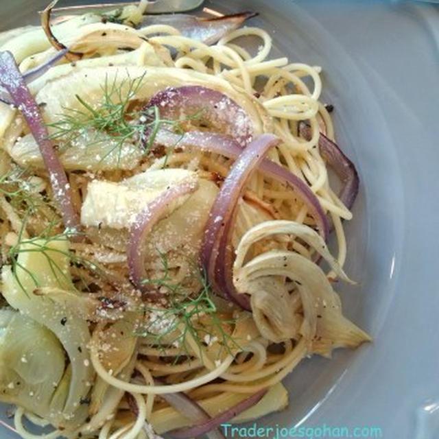 トレーダージョーズのバルサミコ酢とフェンネルでパスタ Pasta with Fennel and Balsamic Vinegar