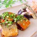 秋の味覚!揚げ焼き秋刀魚の甘辛だれ&コクうま☆茄子とベーコンのおろし和え by いずみさん