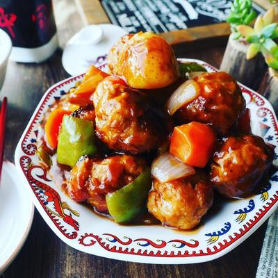 珍しく喧嘩(汗)と、春野菜た~っぷり❤️揚げずに作る肉団子の酢豚風♪