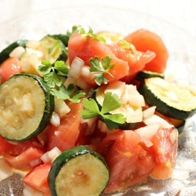 ズッキーニとトマトのサラダ