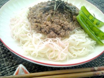 【レシピ】さっぱりで美味!和風ミートソーメン(^^♪