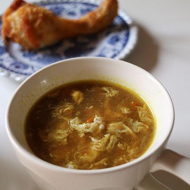 残りカレー☆鍋にこびりつきカレーのスープ
