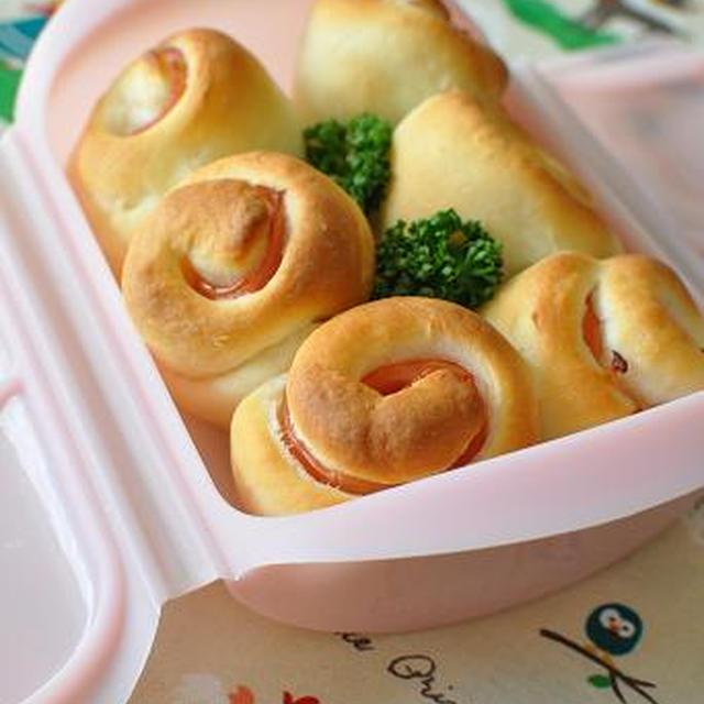 ルクエで作るお花のハムロール&パンの食べ放題