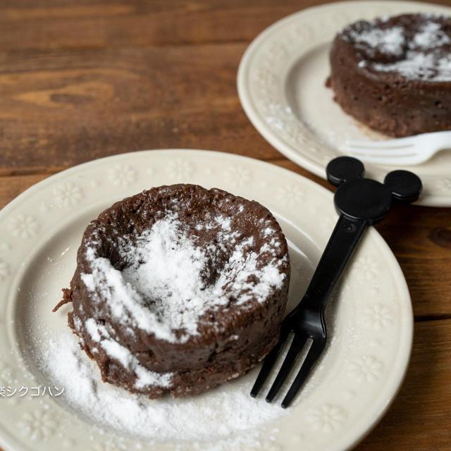 【材料2つ!レンジで2分♪】簡単おやつチョコケーキ