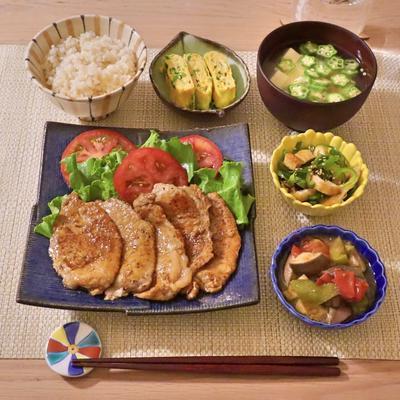 218.晩ごはんレシピ:豚の生姜焼き