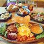 カレープレート三種盛り☆ダンススタジオ&創作料理&スパイス料理の店【ふらっと】