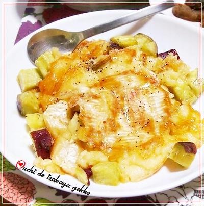 ★さつま芋と丸ごとカマンベールチーズ焼き~蜂蜜がけ★