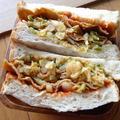 蒸し煮キャベツと板麩ライ麦サンド