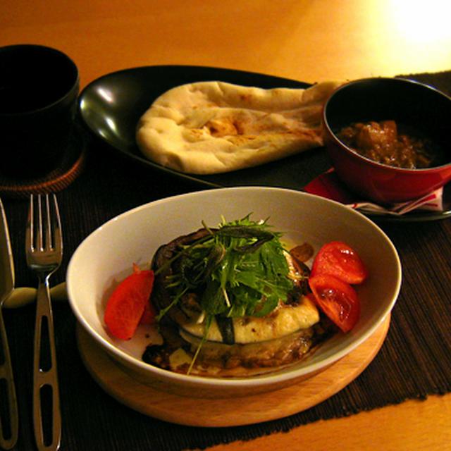 ひとりごはん。 *米茄子とシーチキンのオーブン焼き など