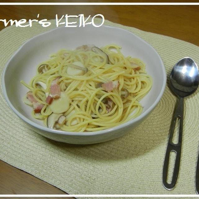 忙しい時に楽チンおススメ麺料理  ~レシピは『きのことベーコンのスパゲティ』です~