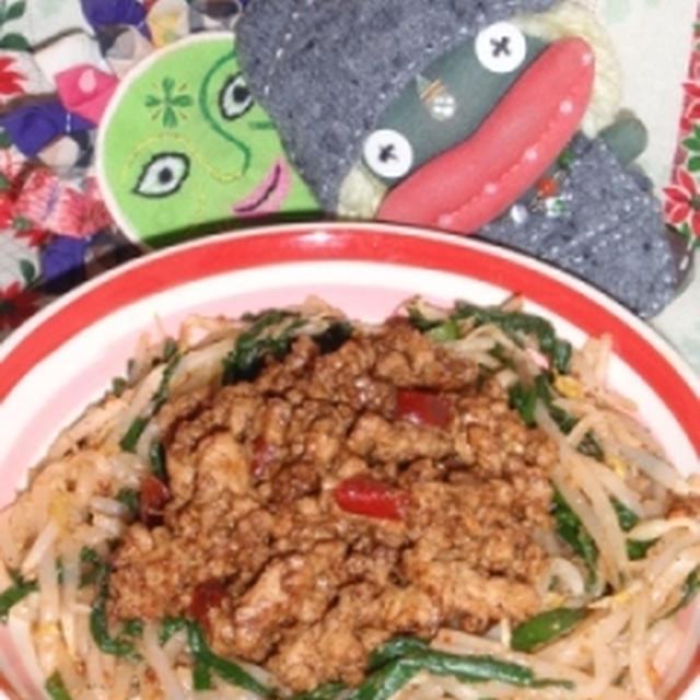 ウェイパーde担々麺風ニラともやしのサラダ&トマトとアスパラの塩麹サラダ(お家カフェ)