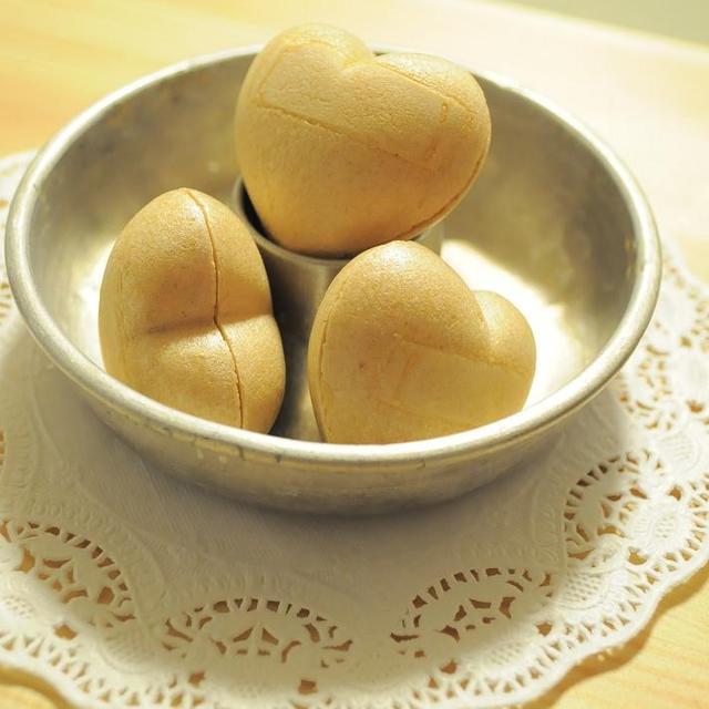 ひな祭りに☆バニラ薫るハートの小豆最中