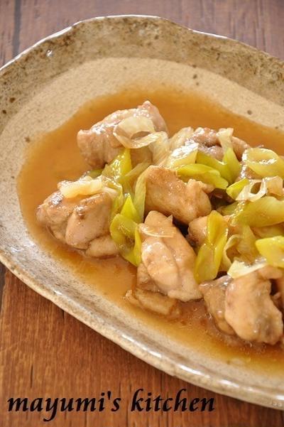 鶏肉と長ネギの照り煮《節約*簡単》