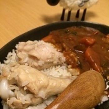 風味いっぱい。海南チキンライスの野菜カレー。