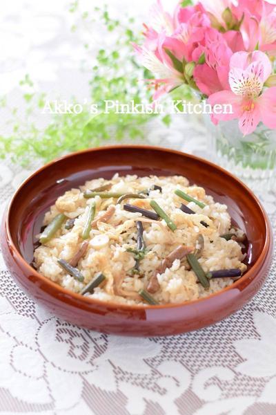 山菜おこわ デパ地下の味をご自宅で♪春に一度は食べたくなりますね~♪
