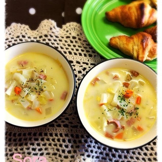 野菜ごろごろジンジャースープ