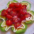バジルジュレがけトマト&アボガドのお花サラダ♪