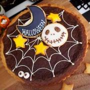 ハロウィンパーティー☆チョコタルトにジャックアイシングクッキー☆