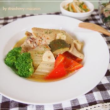 鶏手羽・野菜たっぷり☆粒マスタード煮込み