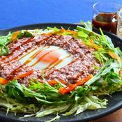 イカゲソと大和芋のお好み焼き風