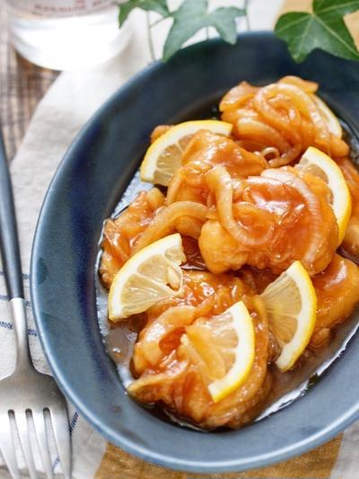 むね肉のレモン南蛮漬け【#作り置き #お弁当 #揚げない #主菜 #和風】と『スナップエンドウレシピ9選』