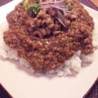 キーマ納豆カレーレシピ