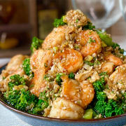 【レシピ】海老とブロッコリーのやみつき香味ダレ