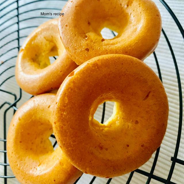 砂糖なしでヘルシー♡おからバナナの焼きドーナツ♡