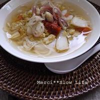 ピリ辛スープベトナムフォーでスピーディー料理