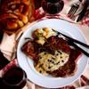 アメリカンステーキ・ホースラディッシュとマーマレードのソース