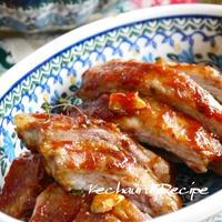 オーブンまかせでがっつり肉料理!!『ポークリブの絶品バーベキュー』、初・ブロードウェイ。