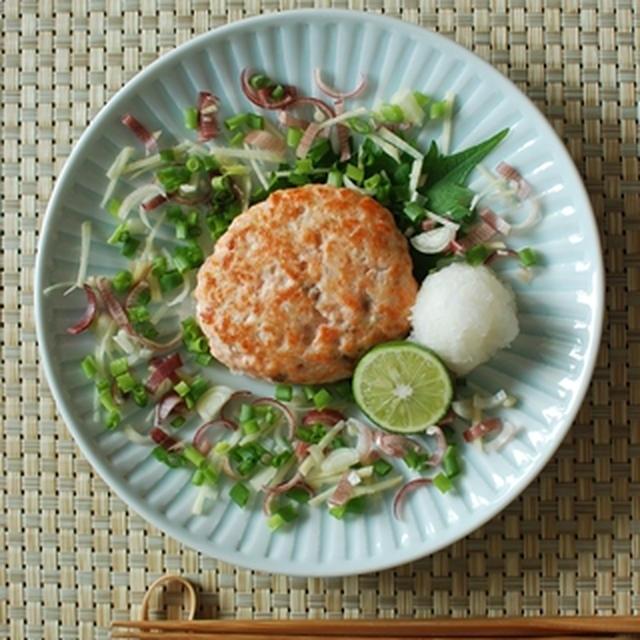 薬味たっぷり☆鮭と豆腐のハンバーグ