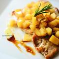 豚肉とリンゴのイタリアンソテー