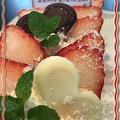 バースディーケーキ―を華やか苺ロールケーキで