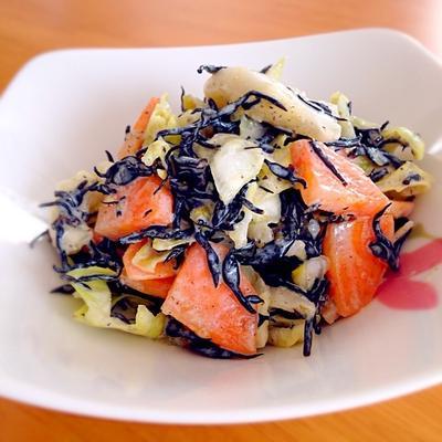 食物繊維と鉄分たっぷり♡柚子こしょうマヨサラダ