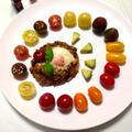 カラフルトマトで飾られた『タコライス』☆ 『カゴメトマトケチャップ』を使って♪♪