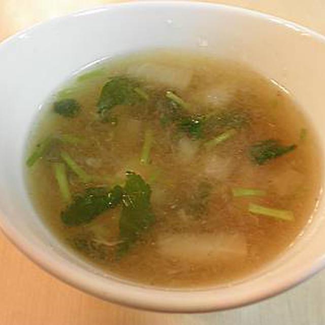 かぶのすり流しスープ♪