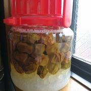 あとは氷砂糖が溶けるだけ 梅を凍らせて作る「自家製梅シロップ」