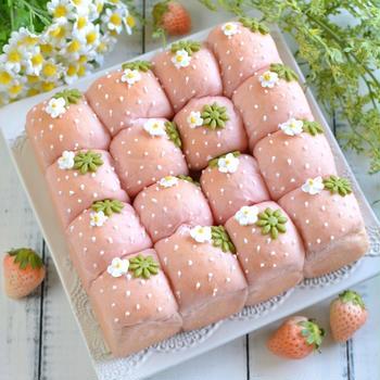 いちごちぎりパン*recipe*