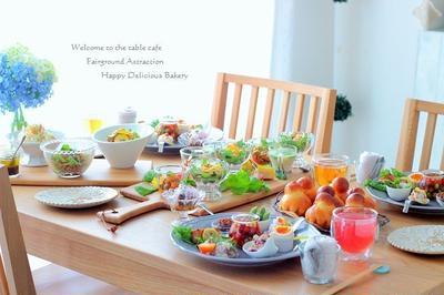 お楽しみ会の持ち寄りランチはサラダがいっぱい!