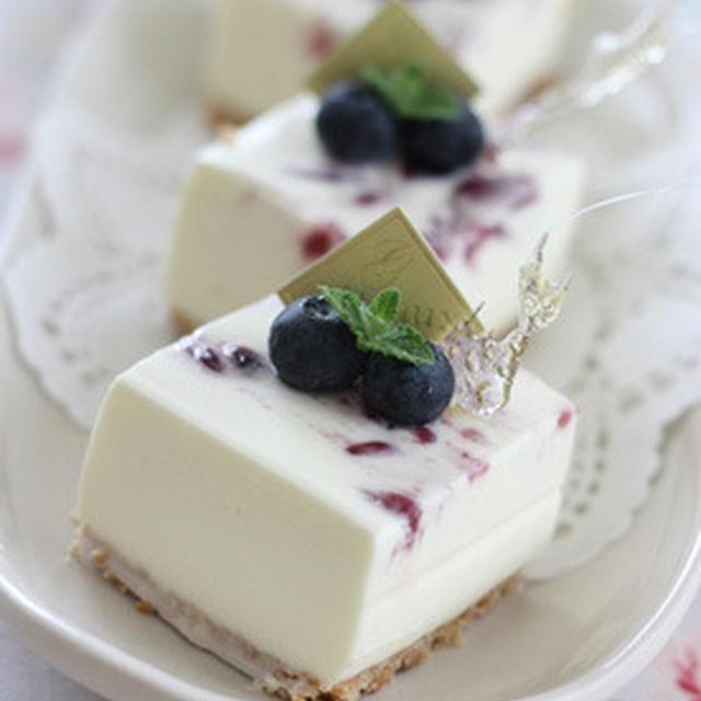 濃厚!マーブル・レアチーズケーキ