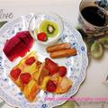 「いちごパンプディング」モーニング☆レンジで時短・簡単で美味しい♪